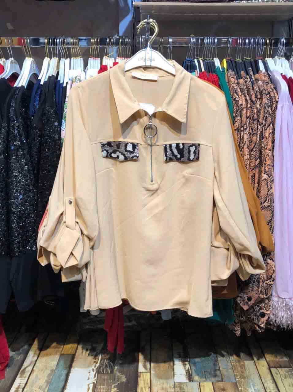 قیمت خرید شومیز زنانه پولکی کد 734