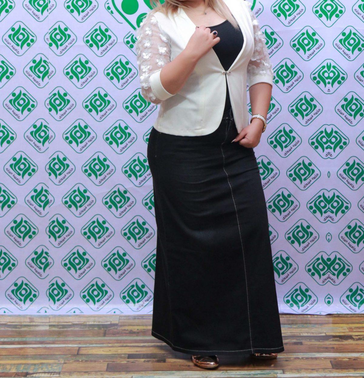 دامن زنانه ترک جین مشکی کد1139