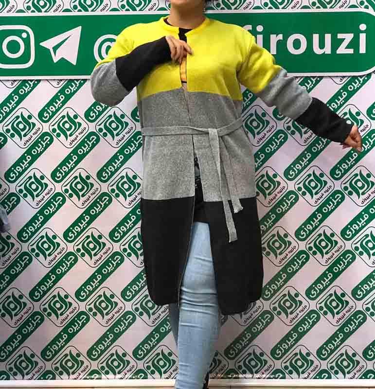 خرید آنلاین ژاکت بافت زنانه جزیره فیروزی