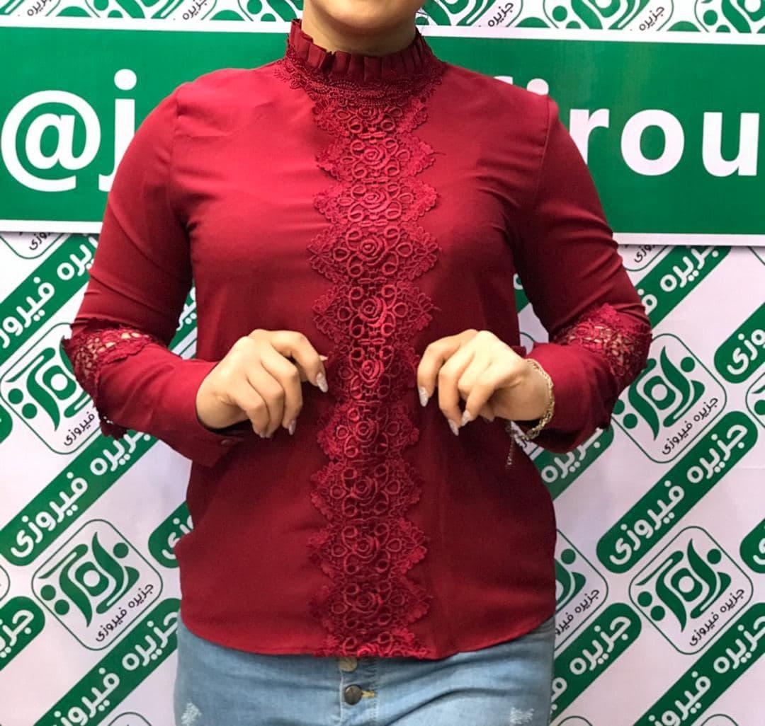 خرید شومیز زنانه آستین گیپور دار