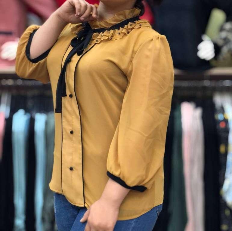 خرید مدل شومیز زنانه زرد