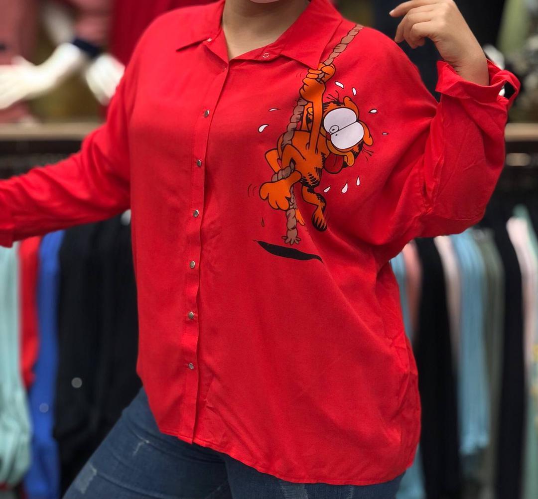مدل شومیز دخترانه قرمز