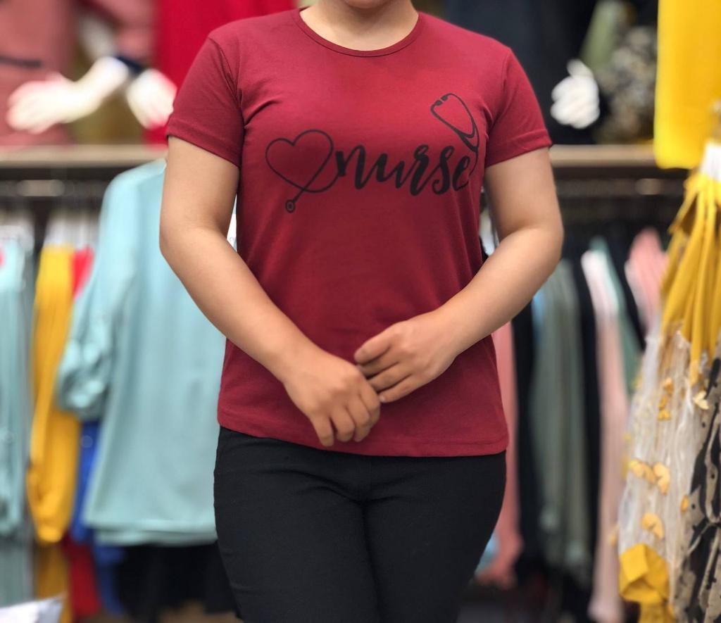 مدل تیشرت دخترانه زرشکی
